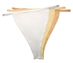 Neutral Solid - NO LACE (804) Set of 3 [White - Creme - Nude] - 837654993804